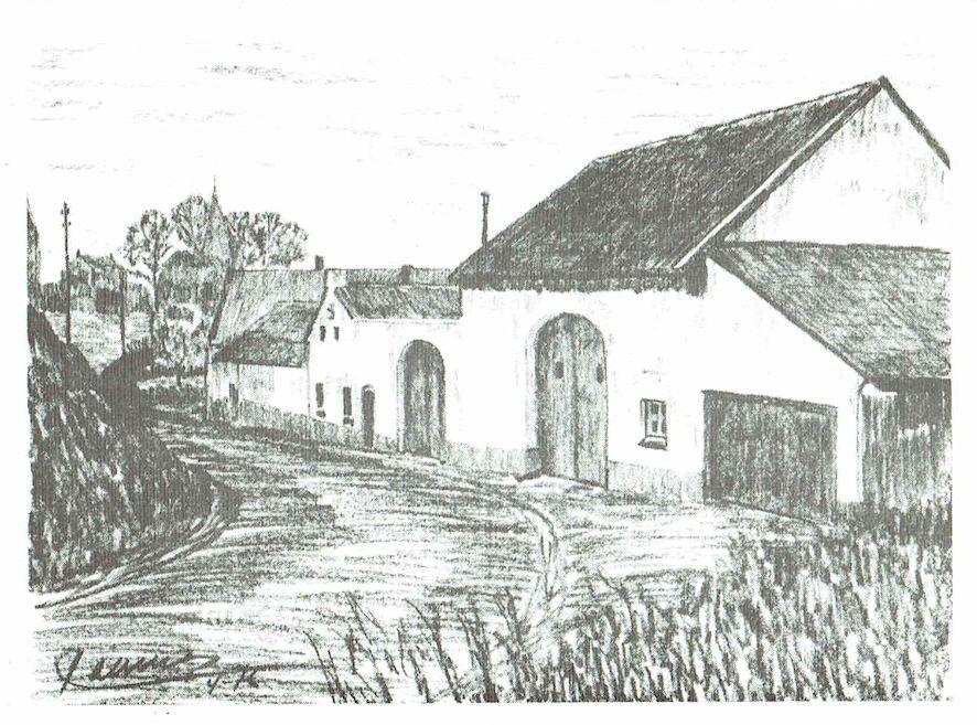 Pentekening boerderij